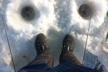 Отчёт о зимней рыбалке в декабре. Корюшка.